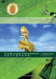 September 2010 - The College of Surgeons of Hong Kong