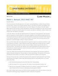 Summary - Clark Wilson LLP