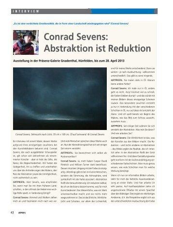 Conrad Sevens: Abstraktion ist Reduktion