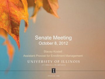 Enrollment Goals 2013 - Senate - University of Illinois at Urbana ...