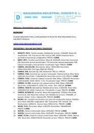 listado maquinaria donosti - Metalia.es