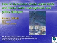 How to harmonize virtual water trade and future water management ...