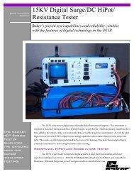 15KV Digital Surge/DC HiPot/ Resistance Tester