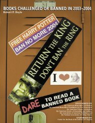 books challenged or banned in 2003–2004 books challenged or ...
