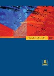 Geschäftsbericht 2009 - BAUER Gruppe