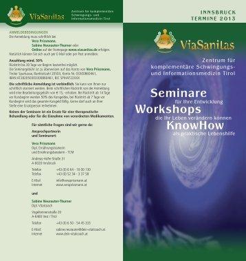 Termine, Preise, weitere Infos, Innsbruck als PDF - ViaSanitas