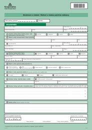 oznámení o změně/žádost o změnu pojistné smlouvy
