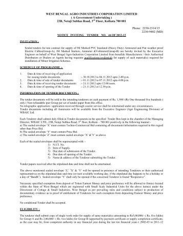Tender_Notice_NIT44 - West Bengal Agro Industries Corporation ...