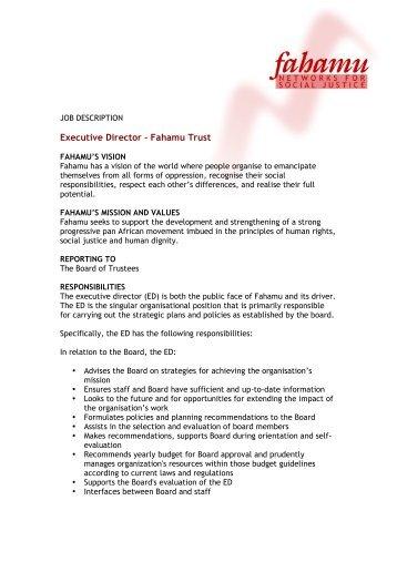 Job Description Person Specification Form