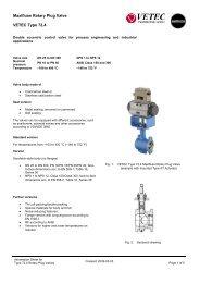 Maxifluss Rotary Plug Valve VETEC Type 72.4
