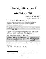 The Significance of Matan Torah - YU Torah Online