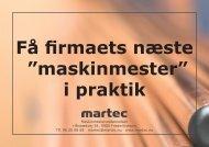 """Få firmaets næste """"maskinmester"""" i praktik - Martec"""