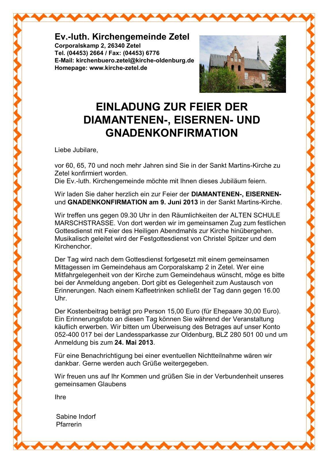 5 free magazines from kirche.friesischewehde.de, Einladung