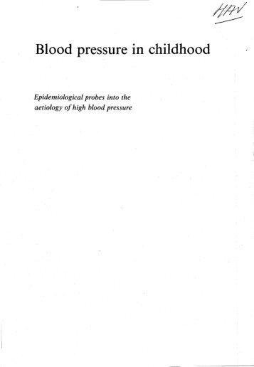 Change of blood pressure in childhood - Epib.nl