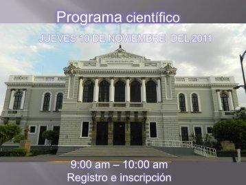 Programa científico - Centro Universitario de Ciencias de la Salud