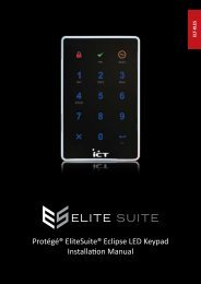 Protégé® EliteSuite® Eclipse LED Keypad Installation Manual