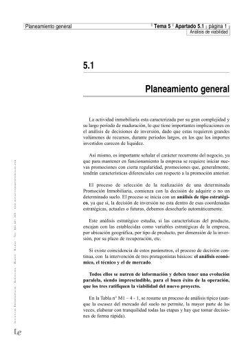 5.1 Planeamiento general - Iniciativas Empresariales