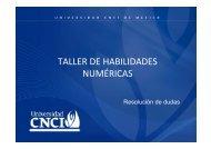 TALLER DE HABILIDADES NUMÉRICAS