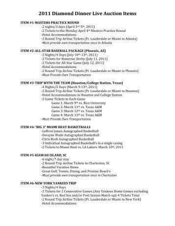Live Auction Items .PDF - Boxscore