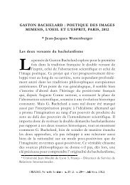 GASTON BACHELARD : POETIQUE DES IMAGES MIMESIS, L'OEIL ...