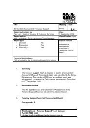 Item 9.4 - Self Assessment - Tenancy Support - Tower Hamlets Homes