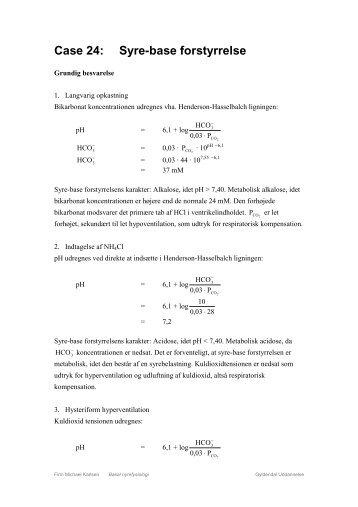 Case 24: Syre-base forstyrrelse - Gyldendal