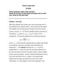 View Exam II - Chemistry