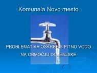Problematika oskrbe s pitno vodo na območju Dolenjske - GZDBK