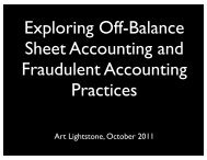 Exploring Off-Balance Sheet Accounting and ... - New Learner