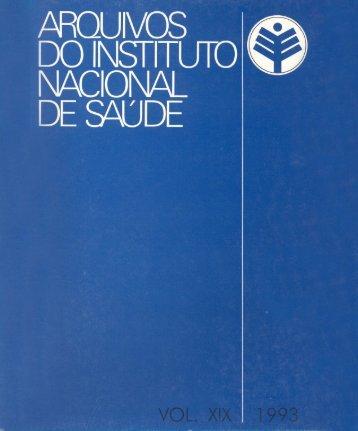 Vol 19 1993 - Repositório Científico do Instituto Nacional de Saúde
