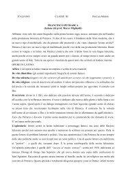 ITALIANO CLASSE III Prof.ssa Midolo FRANCESCO ... - Polo Valboite