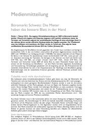 Medienmitteilung Büromarktbericht 2010 - Colliers International Zurich