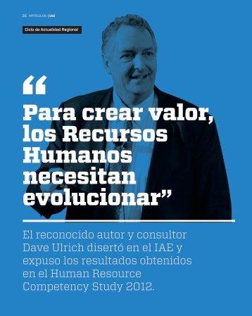 """Para crear valor, los Recursos Humanos necesitan evolucionar"""""""