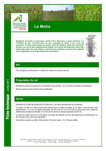 Moha magazines - Chambre d agriculture des deux sevres ...