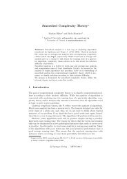 Smoothed Complexity Theory⋆