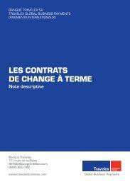 LES CONTRATS DE CHANGE À TERME - Travelex