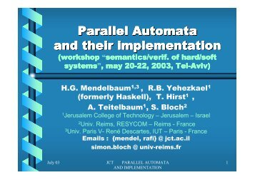 Parallel Automata and their implementation