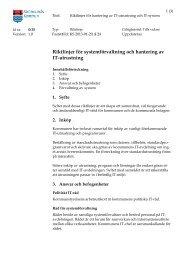 Riktlinjer för systemförvaltning och hantering av IT-utrustning
