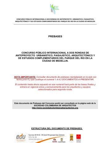 Prebases 06 de Junio de 2013 - Sociedad Colombiana de Arquitectos