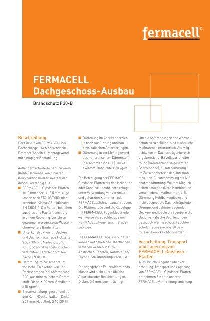 fermacell Dachgeschoss-Ausbau - Merkblatt - ausbau-schlau.de