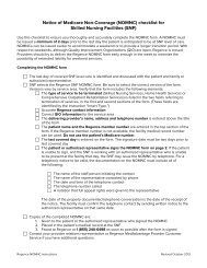 Notice of Medicare Non-Coverage (NOMNC) checklist for Skilled ...