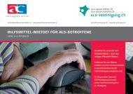 Mietset für ALS-Betroffene ohne IV-Leistungen - ALS-Vereinigung.ch