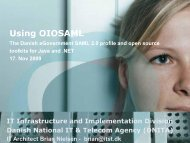 Using OIOSAMLJava and .Net - Terena