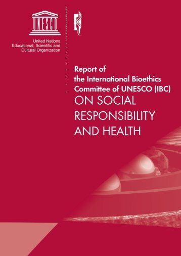 on social responsibility and health