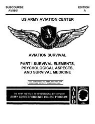 US Army Aviation Survival Part I - Preppers