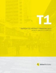 Rapport trimestriel - Yellow Pages Group