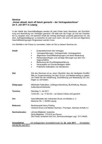 Seminar - Verband Druck und Medien Niedersachsen eV