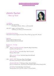 Vita Jasmin Reuter - Jasmin Reuter Make Up Artist