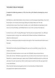 THE GREAT IDEA OF MR BUDD - Fagbokforlaget