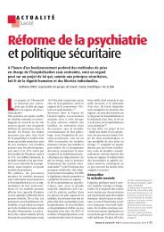 Réforme de la psychiatrie et politique sécuritaire - Ligue des droits ...